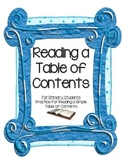 Primary Practice for Reading a Table of Contents