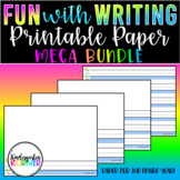 FUN with Writing Primary Printable Paper Journals Centers Distance Learning