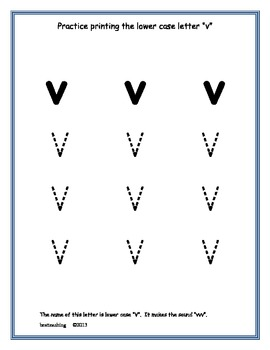 Primary Printing Lower Case Letters