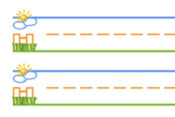 Primary Printing Paper - Sky, Fence, Grass method
