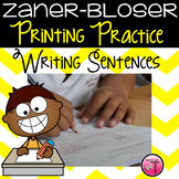 Zaner-Bloser Handwriting  Sentence Writing Practice