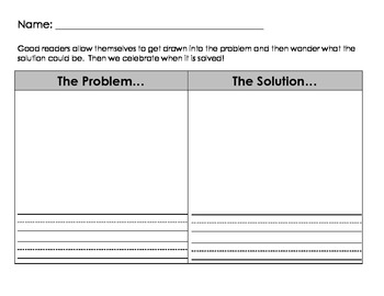 graphic regarding Problem Solution Graphic Organizer Printable titled Situation And Resolution Image Organizer Worksheets TpT
