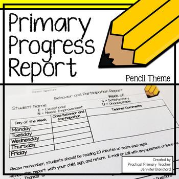 Progress Report - Pencil FREE