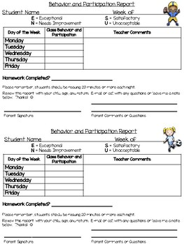Primary Progress Report - Sports Kids