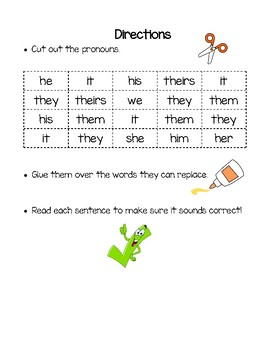 Primary Pronoun Pratice