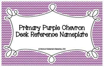 Primary Purple Chevron Desk Reference Nameplates