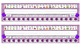 Primary Purple Chevron Desk Reference Nameplates