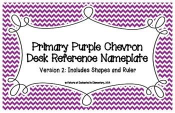Primary Purple Chevron Desk Reference Nameplates Version 2