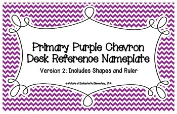 Primary Purple Chevron Desk Reference Nameplates Version 2
