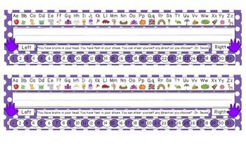 Primary Purple Polka Dot Desk Reference Nameplates