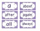 Primary Purple Polka Dot Word Wall Cards
