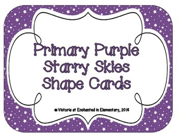 Primary Purple Starry Skies Shape Cards