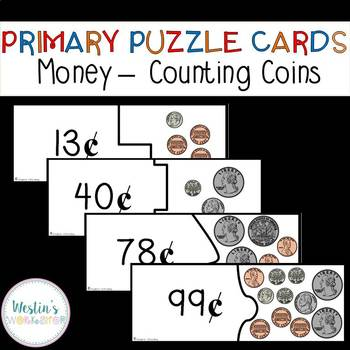 Primary Puzzle Cards Money - Counting Coins