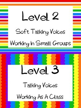 Voice Level Chart--Primary Rainbow