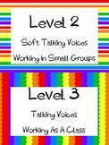 Voice Level Chart--Primary Rainbow