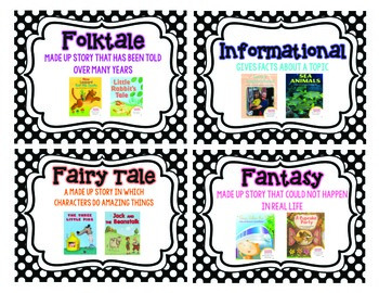 Primary Reading Genre Cards
