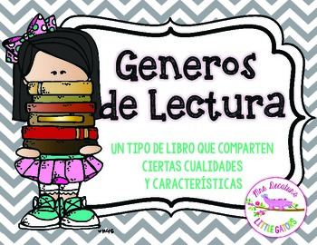 Reading Genre Posters Grey Chevron *Spanish*
