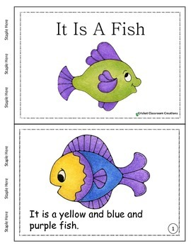 Primary Reading - It Is A Fish