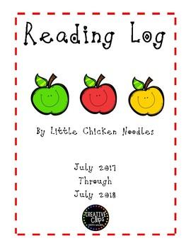 Primary Reading Log 2017-2018 school year