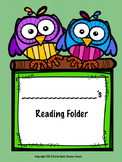 Primary Reading Log and Folder Label
