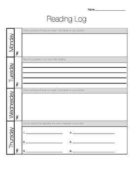 Primary Reading Log Bundle