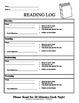 Primary Reading Logs