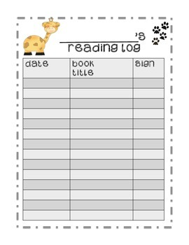 Primary Reading Logs (5) Daily Reading