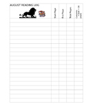 Primary Reading Logs Revised Safari Themed