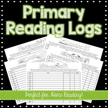 Elementary Reading Logs - Great for Home Reading