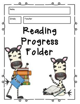 Primary Reading Progress Folders