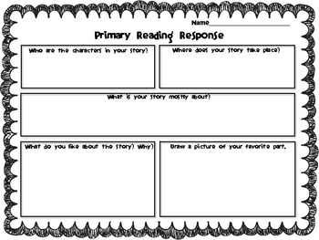 Primary Reading Responses ~ 1st & 2nd Grade
