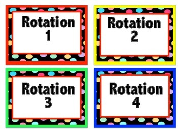 Primary Reading Rotation Chart (w/Centers, Standards, Reading Elements)