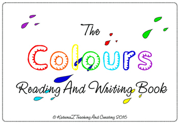 Primary Reading and Writing game book on COLOURS