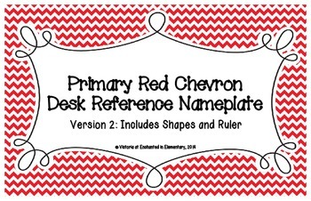 Primary Red Chevron Desk Reference Nameplates Version 2