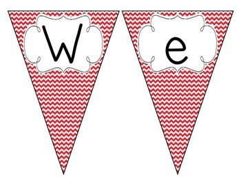 Primary Red Chevron Welcome Pennant