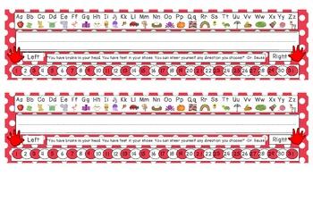 Primary Red Polka Dot Desk Reference Nameplates