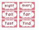 Primary Red Polka Dot Word Wall Cards