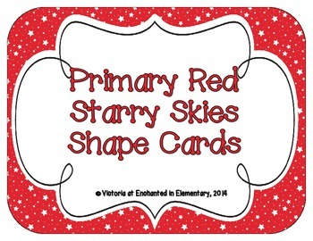 Primary Red Starry Skies Shape Cards