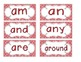 Primary Red Zebra Print Word Wall Cards