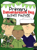Kindergarten and Primary Remembrance Day Package {Writing, math and craftivity}