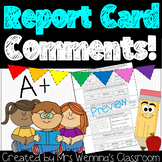 Report Card Comments (Primary)
