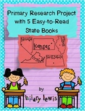 State Research Project with 5 Easy-to-Read State Books-IL, KS, ND, NV, VA