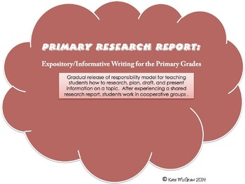 Primary Research Report: Informative/Expository Writing for the Primary Grades