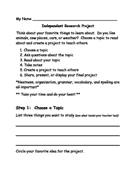 Primary Research Template