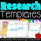 Primary Research Templates and Graphic Organizers - Differentiated!