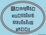 Primary Reusable Integrated Spelling Activity Sheet