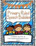 Primary Ruled Speech Bubble Writing Paper