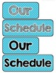 Primary Schedule Cards - Editable!