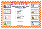 FREE! 8 Primary School Library Book Genres Posters Pack