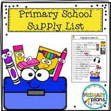 Primary School Supply List
